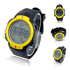Fashion Men's Waterproof LCD Digital Stopwatch Date Rubber Sport Wrist Watch