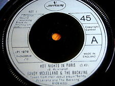"SANDY McLELLAND & THE BACKLINE - HOT NIGHTS IN PARIS     7"" VINYL"