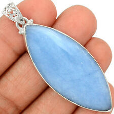 Angelite 925 Sterling Silver Pendant Jewelry ANGP284