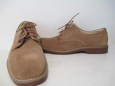 Bass Mens Pasadena Suede Plain Toe Lace Up Dress Oxford Shoes Taupe Size 12 D