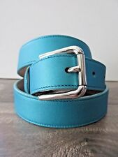 NWT Dolce & Gabbana $210 Turquoise Women's Soft Leather Belt 80cm/32in BE0137