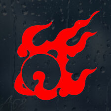 Red Fire Flame Bomb Car Or Laptop Decal Vinyl Sticker For Window Panel Bumper