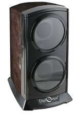 Diplomat Automatic Double Watch Winder - Burlwood - 4 Settings Bi-Directional