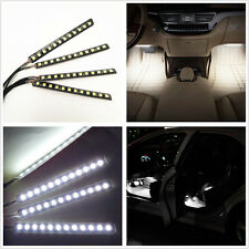 Car SUV Charge 12V Interior Floor Decorative White LED Atmosphere Glow Lights