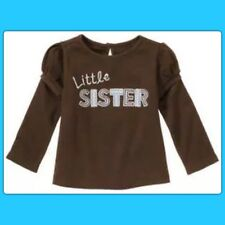 "NWOT 2T Gymboree BEST FRIEND brown Cotton Long Sleeve SHIRT TOP ""Little Sister"""