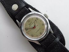 World War II Felca WWII 1940s 17J Military Swiss Watch Antimanetic Sweep Second