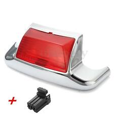 RED REAR MUDGUARD TRIM FENDER TIP 6 LED LIGHT FOR HARLEY DAVIDSON FLH FLHT FLSTC
