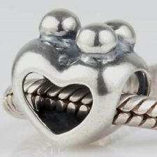 FAMILY MUM HEART Genuine 925 Sterling Silver Charm Bead Fits European Bracelets