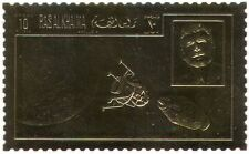 Ras al Khaima GOLD Apollo 11/Rocket/Moon Landing/Space/Kennedy/JFK 1v (b8523)