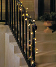 """CLEAR BUBBLE  STRING LIGHTS ~25 CT~ INDOOR/OUTDOOR ~101""""L~HOLIDAYS / CRAFTS ~NIB"""