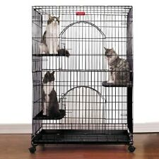 Proselect ProSelect Foldable Cat Cage 35.5Lx24Wx48 Blk - ZW334-17 Cat NEW