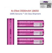 4x Authentic Efest 3500mAh 18650 3.7V 20A Rechargeable Battery Genuine ,UK Stock