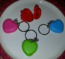 Tupperware Heart Shaped Keychain Pill Storage Container  Set 4 New!!