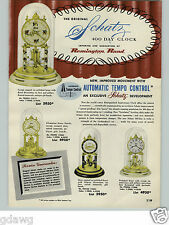 1954 PAPER AD Schatz 400 Day Anniversary Clock 8 Day Cuckoo Hand Carved