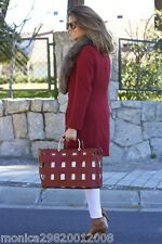 ZARA LEATHER BASKET TOTE SHOPPER HANDBAG SS16 BNWT