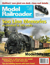 Model Railroader Apr.1998 Ore Dock Roof Details N Scale SP Donner Pass Layout