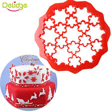 Christmas Snowflake Sugarcraft Cake Decorating Fondant Icing Cookie Cutters Tool