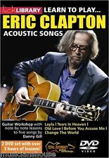 Lick Library Learn to Eric Clapton ACOUSTIC Gitarre DVD & JAMTRAX CD Wiedergabe