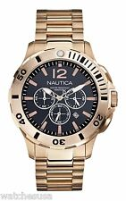 Nautica Men's N27524G BFD 101 Dive Style Gold-tone Chronograph Quartz Watch
