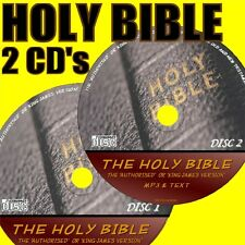 COMPLETE KJV HOLY BIBLE ON 2 MP3 AUDIO CDs OLD & NEW TESTAMENTS & FULL TEXT NEW