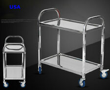 Commercial Home 2-Shelf Stainless Steel kitchen restaurant Utility Cart