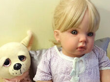 REBORN BABY GIRL TODDLER TIBBY DONNA RUBERT STANDING HUMAN GLASS EYES!