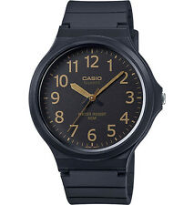 Casio MW240-1B2 Men's Black Resin Band Easy Reader Black Dial 3-Hand Watch