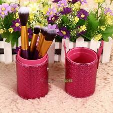 Travel Leather Makeup Brush Pen Storage Empty Holder Cosmetic Cup Case Box Tools