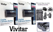 2-Pc NP-FM500H Li-Ion Battery Pack With Charger For Sony Alpha A700 A850 A900