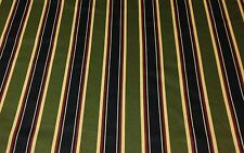 """JACLYN SMITH DOVER STRIPE OLIVE GREEN RED COTTON FABRIC BY THE YARD 54"""" W"""