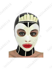 3891 Latex Rubber Gummi Maid Servants Masks Hoods customized catsuit cool 0.4mm