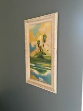 Real Highwaymen Signed on Board Painting Art Rodney R Demps 12 x 24 RV Size