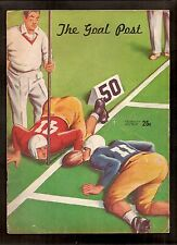 vintage 1947 Oregon Ducks v UCLA football program - Norm Van Brocklin, Tom Fears