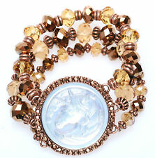 KIRKS FOLLY CLOUDWALKER UNICORN CRYSTAL & FANCY BEAD STRETCH BRACELET