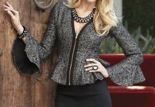 Women's Fall Spring Winter Black Mettalic Boucle jacket plus size 24W 2X 3X $100
