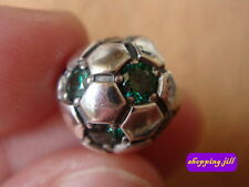 AUTH Pandora Green Zirconia Football 925 ALE Sterling Silver Charm 790444CZN
