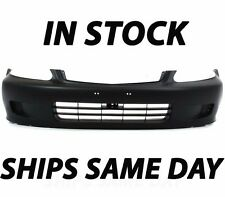 New Primered - Front Bumper Cover Replacement 1999 2000 Honda Civic Coupe Sedan