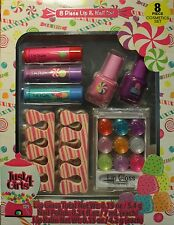 JUST 4 GIRLS 8pc Gift Set NAIL POLISH+LIP BALM+GLOSS+TOE SEPARATOR Holiday 2/2