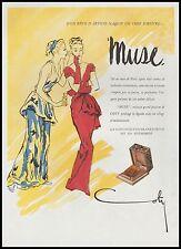 Publicité Parfum Muse de Coty Fashion Mode  Art vintage print ad  1946 - 2h