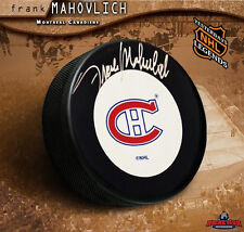 FRANK MAHOVLICH Signed Montreal Canadiens Puck