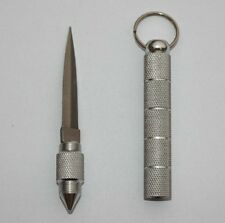 Silver Steel Key Chain  Blade Knife Tactical Dagger -Self Defense