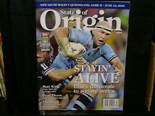 STATE OF ORIGIN MAGAZINE - NSW V QLD GAME II - JUNE 15 2005