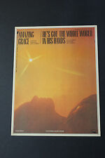 SHEET MUSIC: L. Leaman Amazing Grace He's Got The Whole World in His Hands