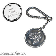 KEYRING Bedlington Terrier  Dog Tag Disc  Key Chain with PERSONALISED ENGRAVING