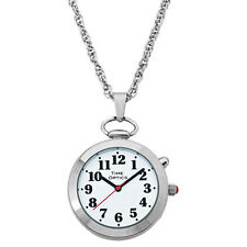 Ladies' Silver Talking Pendant Pocket Watch with Voice (Male & Female)-English
