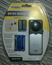 Techko Entry Guard Home Security Detachable Sensors LED AA Batteries S183 NEW