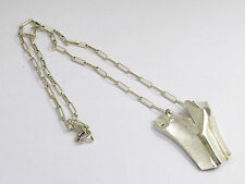 STERLING SILVER NECKLACE  LARGE PENDANT AND CHAIN BY MATTI HYVARINEN OF FINLAND