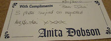 Hand Written & Signed Letter from Anita Dobson, Eastenders - Angie Watts