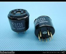 2piece*Gold plated 5755 TO 12AX7 ECC83 tube CONVERTER ADAPTER