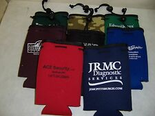 10 Piece Lot Assorted Drawstring Bottle Coozies Wholesale Keep Beer Cold!